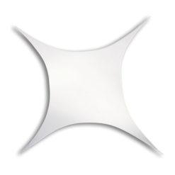 Stretch Shape Square 125cm x 125cm, colore bianco