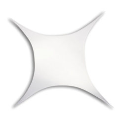 Stretch Shape Square 185cm x 125cm, colore bianco