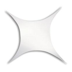 Stretch Shape Square 250cm x 125cm, colore bianco