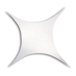 Stretch Shape Square 250cm x 250cm - Bianco