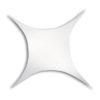 Stretch Shape Square 500cm x 250cm, colore bianco