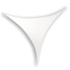 Stretch Shape Triangle 125cm x 125cm, colore bianco