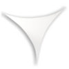 Stretch Shape Triangle 185cm x 125cm, colore bianco