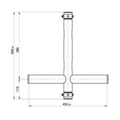 T-Downrigger Alluminio (GT/GQ)