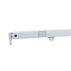 Telescopic drape support 90(l)-->120(l)cm, Bianco (rivestito a polvere)