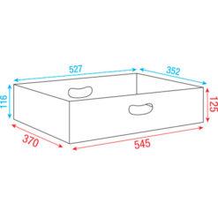 Top insert for Multiflex Case 80/120 37cm, Linea Premium