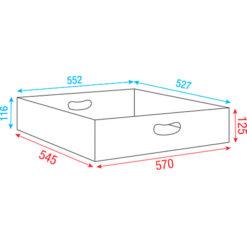 Top insert for Multiflex Case 80/120 57cm, Linea Premium