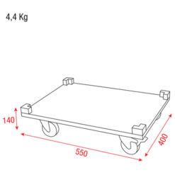Wheelboard for Stack Case VL Pannello con ruote per baule impilabile H