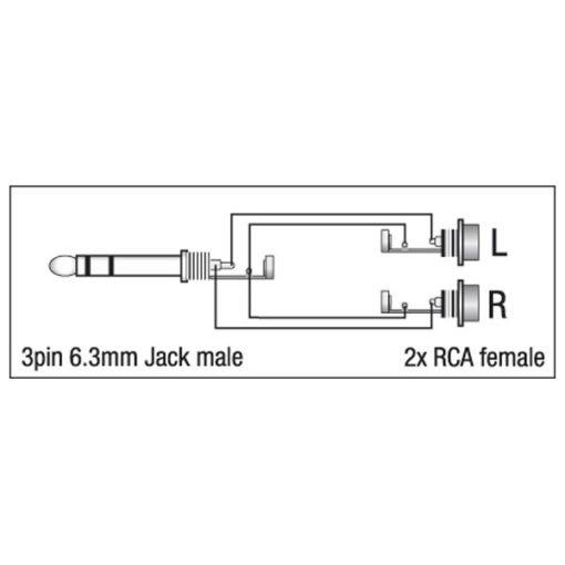 XGA18 - Jack/M stereo > 2 x RCA/F