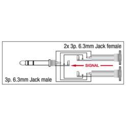 XGA20 - Jack/M stereo > 2 x Jack/F
