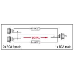 XGA38 - 2 x RCA/F > RCA/M Inclusi 2 resistori da 10 kilo-Ohm