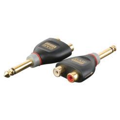 XGA41 - Jack/M mono > 2 x RCA/F Inclusi 2 resistori da 10 kilo-Ohm