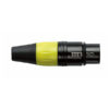 XLR 3p. Connector Female, Black housing Giallo