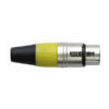 XLR 3p. Connector Female, Nickel housing Giallo