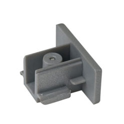 1-Phase End Cap Argento (RAL9006)