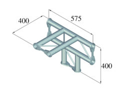 ALUTRUSS BISYSTEM PH-42 4-way T-piece horizontal