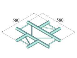 ALUTRUSS DECOLOCK DQ2-PAC41H 4-way Cross Piece