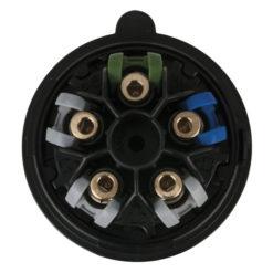 CEE 16A 400V 5p Plug Female Nero, Turbo |Twist, IP44