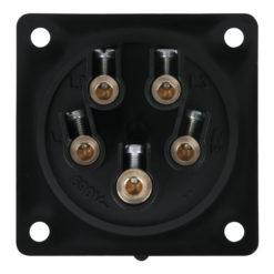 CEE 16A 400V 5p Socket Male Nero, IP44