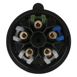 CEE 32A 400V 5p Plug Male Nero, Turbo Twist, IP44