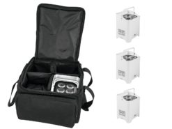 EUROLITE Set 4x AKKU UP-4 HCL Spot WDMX wh + SB-4 Soft-Bag