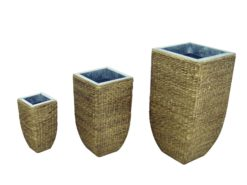 EUROPALMS Design flower pot, hyazinth, 60 cm