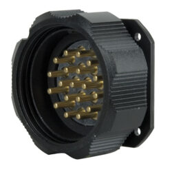 Socapex 19 Pin male chassis connector