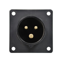 16A 230V 2P+E Black Appliance Inlet (613-6X)