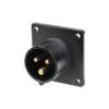 16A 230V 2P+E Black Appliance Inlet (613-6X)