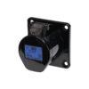 16A 230V 2P+E Black Panel Socket (313-6X)