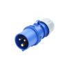 16A 230V 2P+E Plug (013-6)