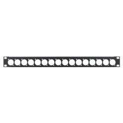 1U 19'' Punched Rack Panel - 16 D Type (R1269/1UK/16)