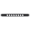 1U 19'' Punched Rack Panel - 8 D Type (R1269/1UK/08)