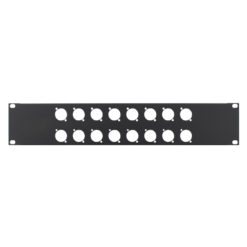 2U 19'' Punched Rack Panel - 16 D Type (R1269/2UK/16)