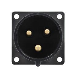 32A 230V 2P+E Black Appliance Inlet (623-6X)