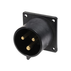 32A 230V 2P+E Black Appliance Inlet (623-6X)
