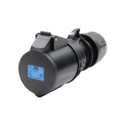 32A 230V 2P+E Black Connector (223-6X)