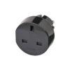 Black Euro Plug Adaptor