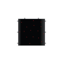 Black RGB Starlit 2ft x 2ft Dance Floor Panel (3 sided)