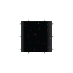 Black RGB Starlit 2ft x 2ft Dance Floor Panel (4 sided)