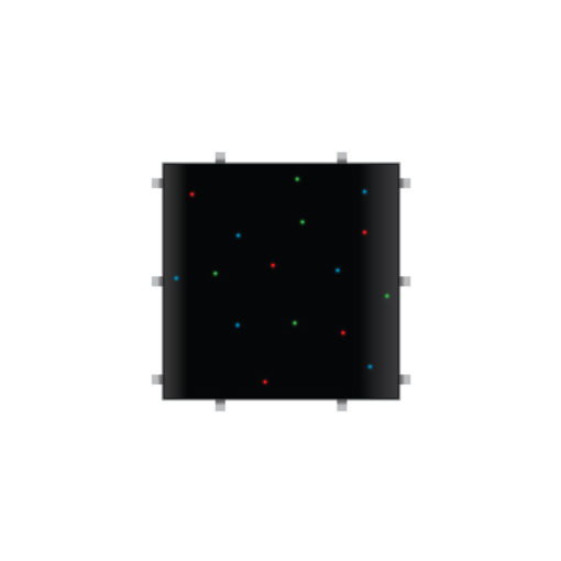 Black RGB Starlit 2ft x 2ft Dance Floor Panel (4 sided)