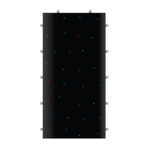 Black RGB Starlit 2ft x 4ft Dance Floor Panel