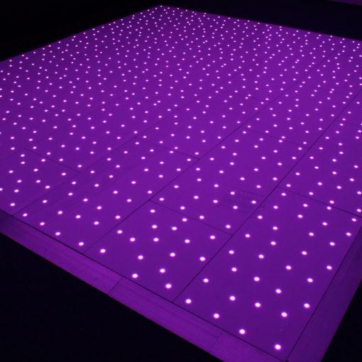 Black RGB Starlit Dance Floor System 24ft x 24ft