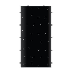 Black Starlit 2ft x 4ft Dance Floor Panel