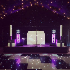 Black Starlit Dance Floor System 20ft x 20ft