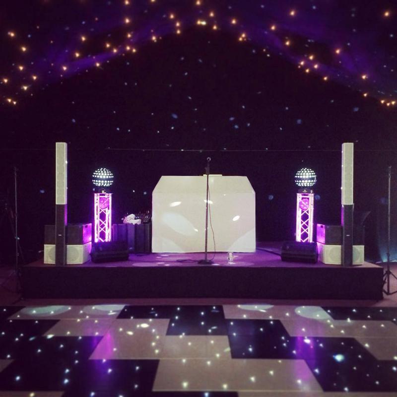 Black Starlit Dance Floor System 30ft x 30ft
