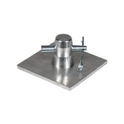 F31 PL 100 x 100mm Aluminium Base Plate and Half Conical