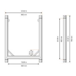 F31PL Modular U Frame Stage Black 500mm (F62076E PL)