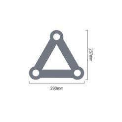F33 PL 4 Way T Piece Apex Down (PL 4097-42)
