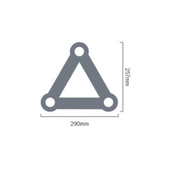 F33 Standard 3 Way 90 Degree Corner R/H Apex Down
